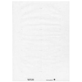 Blanko-Schildchen Inket+Laser+Kopier Orgacolor 73x40mm weiß Leitz 6643-00-01 (PACK=350 STÜCK) Produktbild