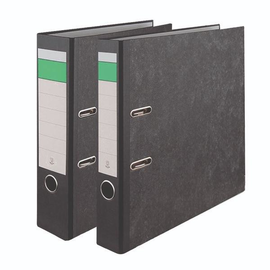Ordner -grüner Balken- A4 80mm schwarz Pappe BestStandard Produktbild