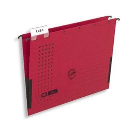 Hängetaschen chic ULTIMATE seitliche Frösche für ungelochte Unterlagen rot Elba 100552105 (PACK=25 STÜCK) Produktbild
