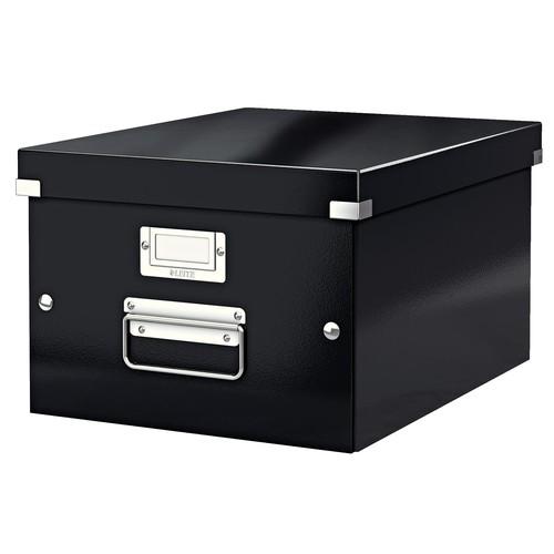 Archivbox WOW Click & Store 281x200x370mm schwarz Leitz 6044-00-95 Produktbild Front View L