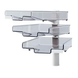 Schwenkflügler mit 3 Briefkörben 410mm 3x3kg Tragkraft lichtgrau Hansa h5033002 Produktbild