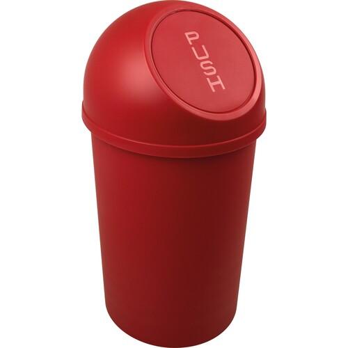 Abfallbehälter mit Push-Einwurfklappe 13l rot Helit H2401125 Produktbild Front View L