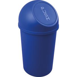 Abfallbehälter mit Push-Einwurfklappe 13l blau Helit H2401134 Produktbild