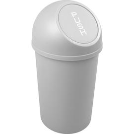 Abfallbehälter mit Push-Einwurfklappe 13l lichtgrau Helit H2401182 Produktbild