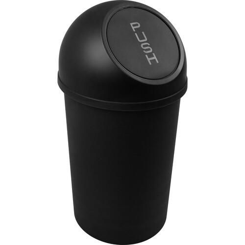 Abfallbehälter mit Push-Einwurfklappe 13l schwarz Helit H2401195 Produktbild Front View L