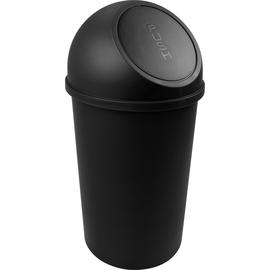 Abfallbehälter mit Push-Einwurfklappe 25l schwarz Helit H2401295 Produktbild