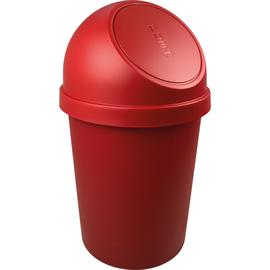 Abfallbehälter mit Push-Einwurfklappe 45l rot Helit H2401325 Produktbild