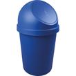 Abfallbehälter mit Push-Einwurfklappe 45l blau Helit H2401334 Produktbild