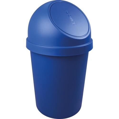 Abfallbehälter mit Push-Einwurfklappe 45l blau Helit H2401334 Produktbild Front View L
