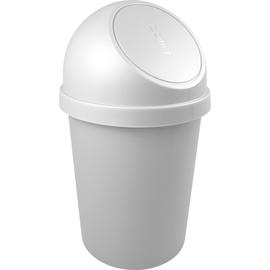 Abfallbehälter mit Push-Einwurfklappe 45l lichtgrau Helit H2401382 Produktbild
