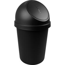 Abfallbehälter mit Push-Einwurfklappe 45l schwarz Helit H2401395 Produktbild