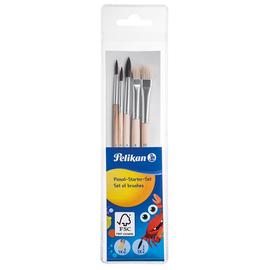 Pinsel-Starterset 5 verschiedene Größen Borstenpinsel+Haarpinsel Pelikan PI5SB Produktbild