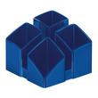 Köcher Scala 125x125x100mm blau Kunststoff HAN 17450-14 Produktbild