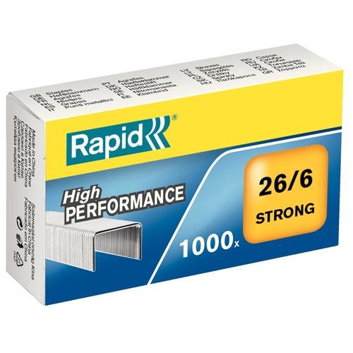 Heftklammern 26/6 STRONG verzinkt Rapid 24861400 (PACK=1000 STÜCK) Produktbild Front View L