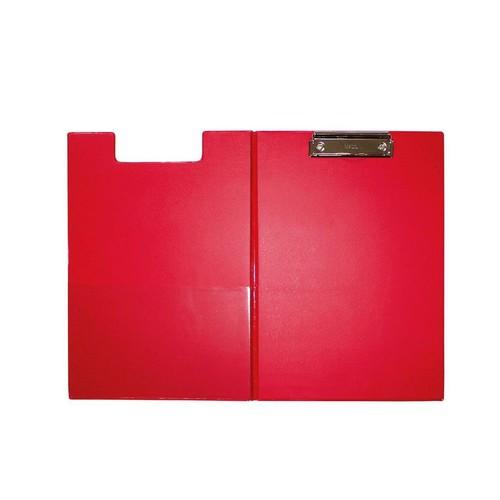 Klemmbrett mit Deckel A4 mit Tasche rot Karton mit
