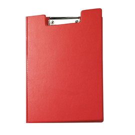 Klemmbrett mit Deckel A4 mit Tasche rot Karton mit Folienüberzug Maul 23392-25 Produktbild