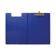 Klemmbrett mit Deckel A4 mit Tasche blau Karton mit Folienüberzug Maul 23392-37 Produktbild Additional View 1 S