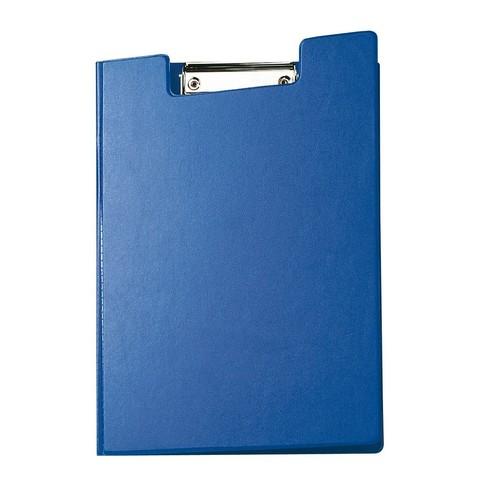 Klemmbrett mit Deckel A4 mit Tasche blau Karton mit Folienüberzug Maul 23392-37 Produktbild