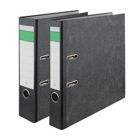 Ordner -grüner Balken- A4 50mm schwarz Pappe BestStandard Produktbild