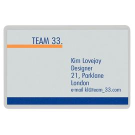 Laminierfolien Visitenkarte 90x60mm 125µ glänzend Leitz 7369-00-02 (PACK=100 STÜCK) Produktbild