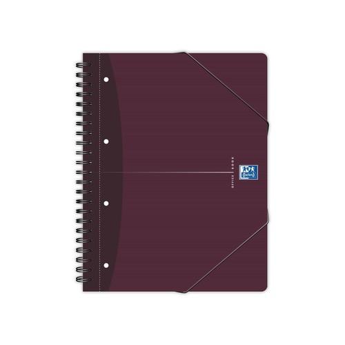 Meetingbook Oxford A4+ kariert Doppelspirale 90Blatt 90g Optik Paper weiß 100102031 Produktbild Front View L