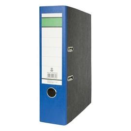 Ordner -grüner Balken- A4 80mm blau Pappe BestStandard Produktbild
