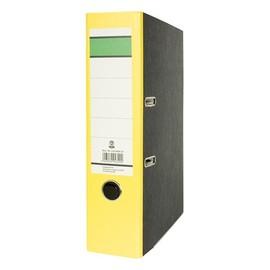 Ordner -grüner Balken- A4 80mm gelb Pappe BestStandard Produktbild