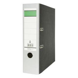 Ordner -grüner Balken- A4 80mm grau Pappe BestStandard Produktbild