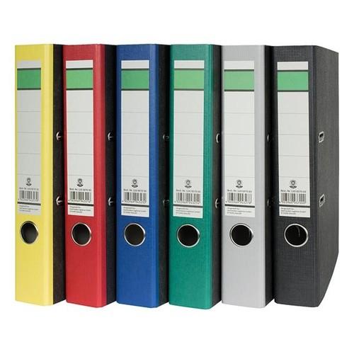 Ordner -grüner Balken- A4 50mm grau Pappe BestStandard Produktbild Additional View 1 L