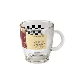 Kaffeetasse aus Glas mit Dekor XAVAX 00111084 (PACK=6 STÜCK) Produktbild