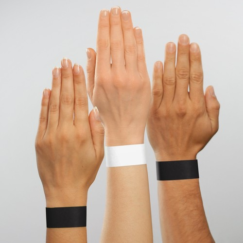 Eventbänder mit Etiketten 26cm schwarz besonders weiches Material Sigel EB215 (PACK=120 STÜCK) Produktbild Additional View 5 L