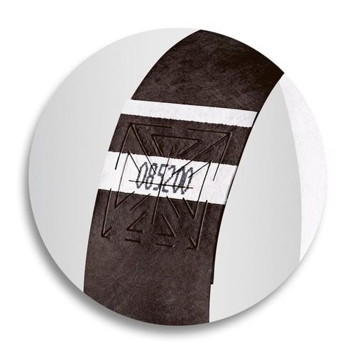 Eventbänder mit Etiketten 26cm schwarz besonders weiches Material Sigel EB215 (PACK=120 STÜCK) Produktbild Additional View 6 L