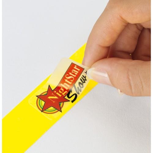Eventbänder mit Etiketten 26cm weiß besonders weiches Material Sigel EB216 (PACK=120 STÜCK) Produktbild Additional View 2 L
