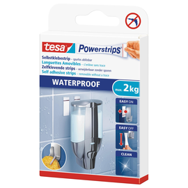 Powerstrips Large Waterproof bis 1,5kg Haftkraft beidseitig klebend Tesa 59700-00000-03 (PACK=6 STÜCK) Produktbild