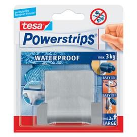 Powerstrips Duo-Haken Waterproof bis 3kg Haftkraft metall Tesa 59710-00000-03 Produktbild