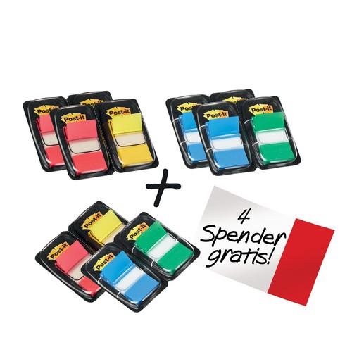 Haftstreifen Post-it Index Promotion 8+4 Streifen farbig sortiert 3M 680-P12 (PACK = 12X50STÜCK) Produktbild