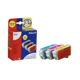 Tintenpatronen PromoPack Gr. 1515 (CLI-526) für IP4850/MG5150 3x9ml farbig Pelikan 4106650 Produktbild