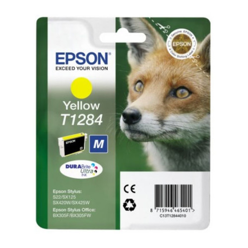 Tintenpatrone T1284 für Epson Stylus S22/SX445W 3,5ml yellow Epson T128440 Produktbild Front View L