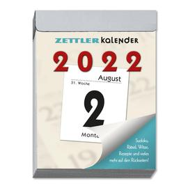 Tagesabreißkalender 2022 hoch 5,5x7cm 1Tag/1Seite weiß Zettler 302-0000 Produktbild