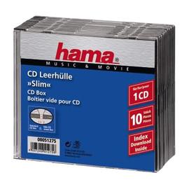 CD-Box Slim Jewel Case schwarz Hama 00051275 (PACK=10 STÜCK) Produktbild