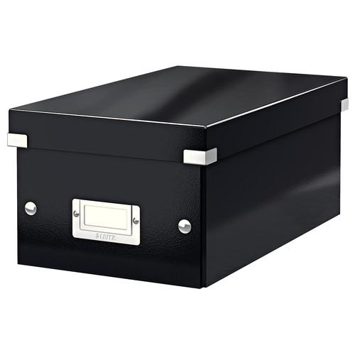 DVD-Ablagebox WOW Click & Store 147x206x352mm schwarz Leitz 6042-00-95 Produktbild Front View L