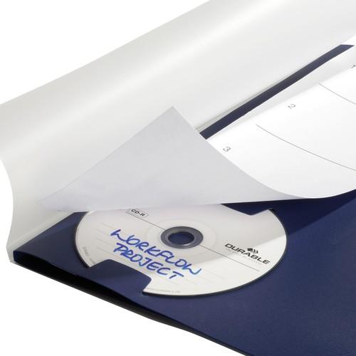 Ordnungsmappe mit 5 Fächer A4 dunkelblau PP Durable 2475-07 Produktbild Additional View 6 L