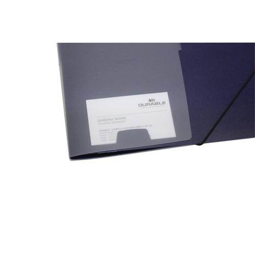 Ordnungsmappe mit 5 Fächer A4 dunkelblau PP Durable 2475-07 Produktbild Additional View 3 L