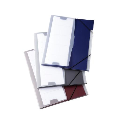 Ordnungsmappe mit 5 Fächer A4 dunkelblau PP Durable 2475-07 Produktbild Additional View 2 L