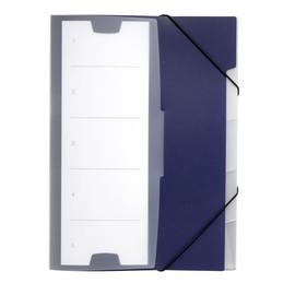 Ordnungsmappe mit 5 Fächer A4 dunkelblau PP Durable 2475-07 Produktbild