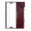 Ordnungsmappe mit 5 Fächer A4 aubergine-dunkelrot PP Durable 2475-31 Produktbild