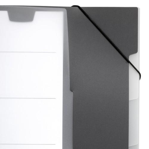 Ordnungsmappe mit 5 Fächer A4 aubergine-dunkelrot PP Durable 2475-31 Produktbild Additional View 4 L