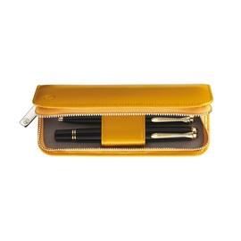 Lederetui Lack TG182 gelb für 2 Schreibgeräte Pelikan 973313 Produktbild