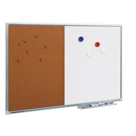Kombiboard ECONOMY 120x90cm Hälfte weiß + Hälfte Kork Legamaster 7-102454 Produktbild