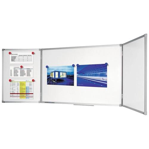 Klapptafel ECONOMY Plus 200/400x100cm weiß magnetisch Legamaster 7-100264 Produktbild Additional View 1 L